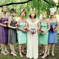 Fotos de boda con máscara de animales