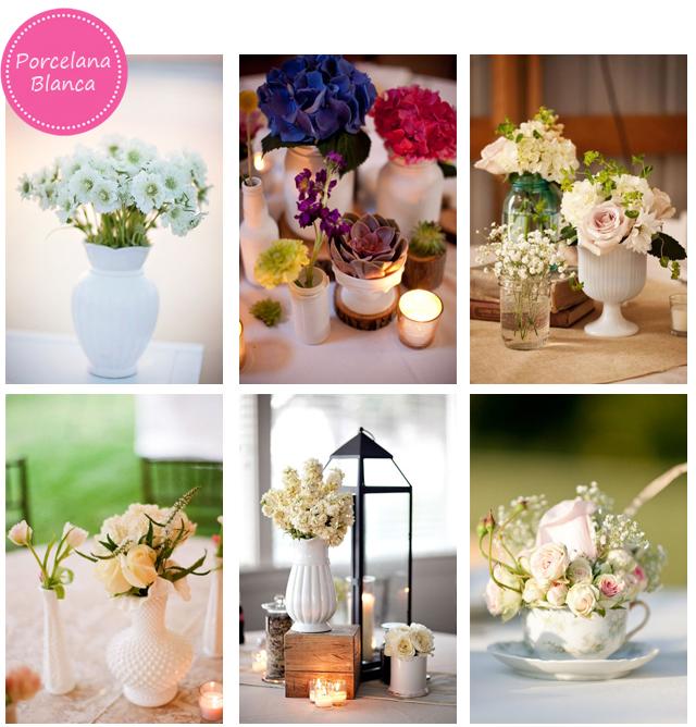 Porcelana blanca para las mesas de tu boda