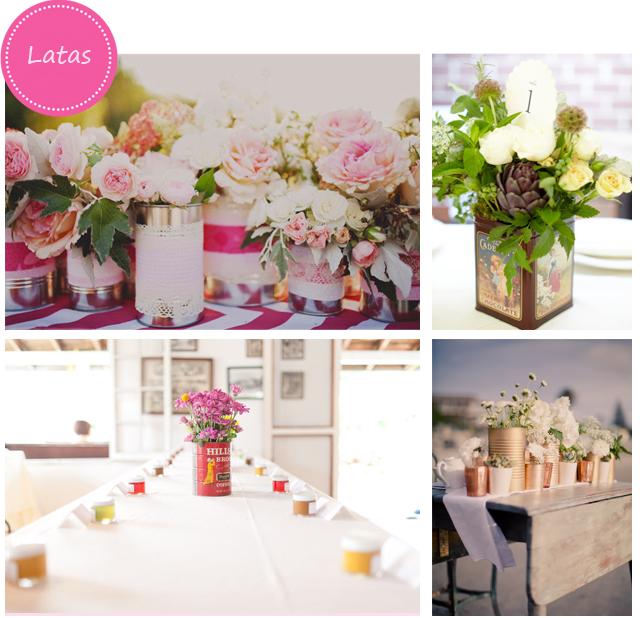 Las latas como centros de mesa para tu boda