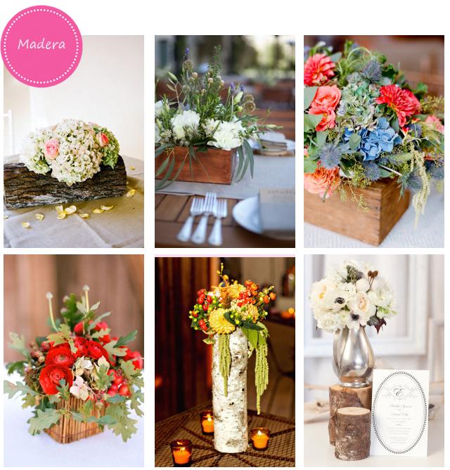 Madera para decorar las mesas de tu boda
