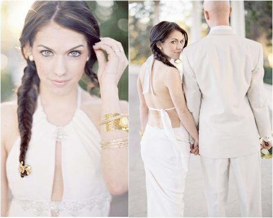 Peinado de novia: una trenza a un lado