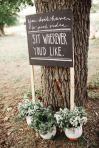 Siéntate dónde quieras en esta boda