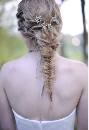 Peinado de novia: las trenza de espiga