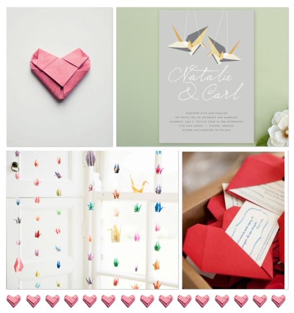 Origami arte japones en tu boda