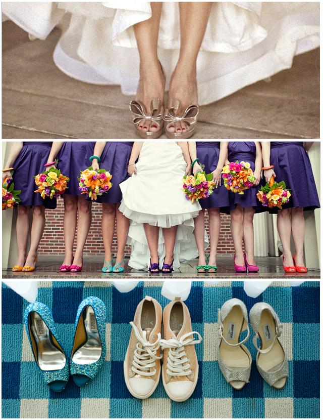 zapatos para la novia y las invitadas de boda