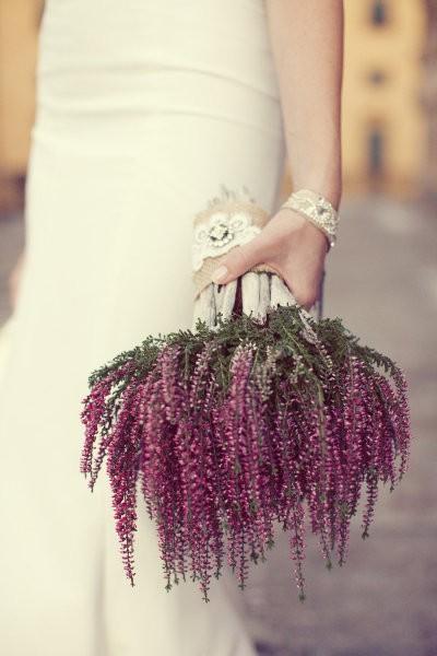 ramo de novia con brezo