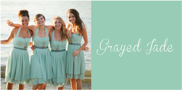 colores pantone primavera 2013 Grayed Jade bodas