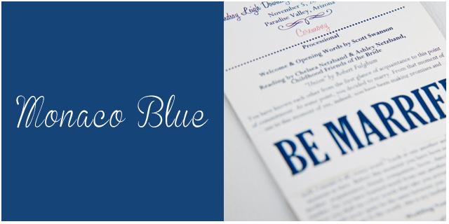 colores pantone primavera 2013 Monaco blue bodas