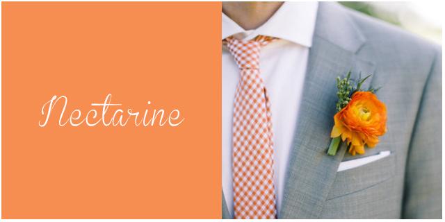 colores pantone primavera 2013 Nectarine  bodas