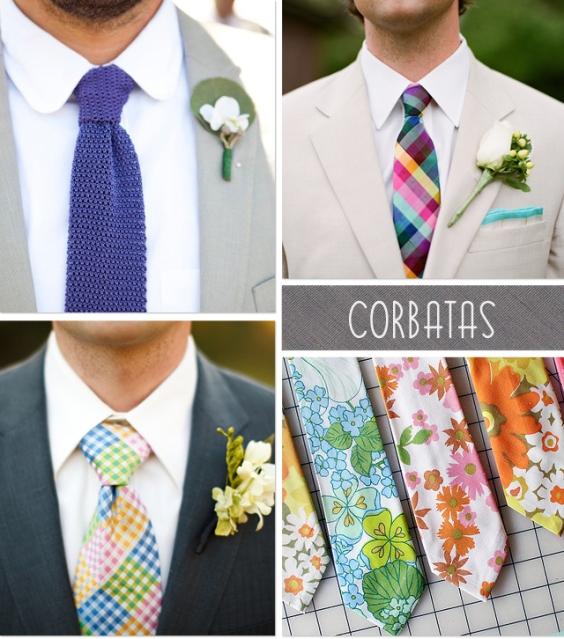 Corbatas novio boda