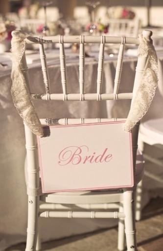 sillas de los novios