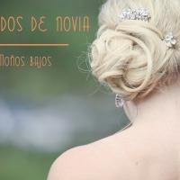 Peinados para la novia: moño bajo