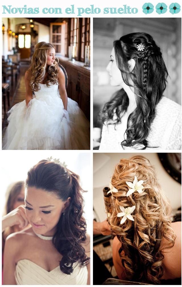 Peinados rizos sueltos para novias
