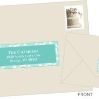 Imprimible: etiquetas para el sobre de la invitación