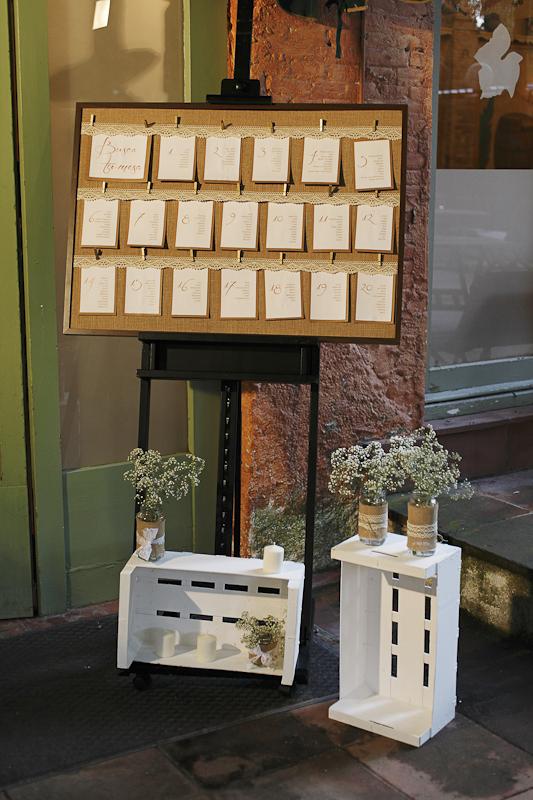 panel de invitados boda