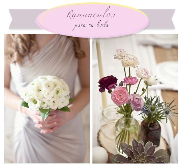 flores para boda ranuculos