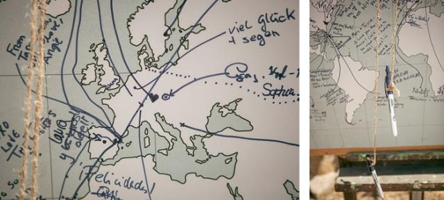 los invitados en un mapa