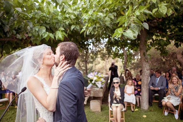 Los novios recien casados