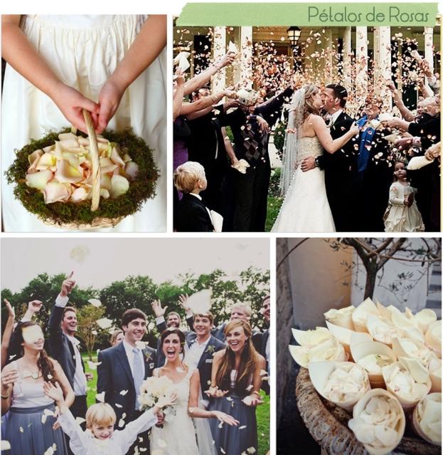 boda alternativas arroz petalos de rosas
