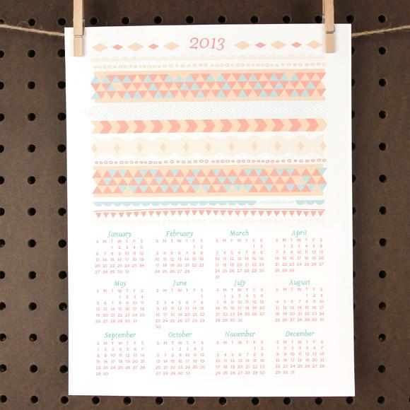 Calendario 2013 imprimible gratis 1