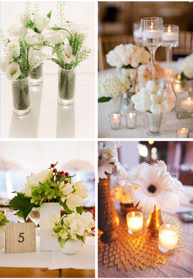 centros de mesa boda color blanco 2