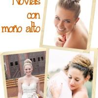 Peinados de novia: moños altos