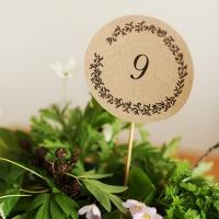 Imprimible: Números de mesa rústicos