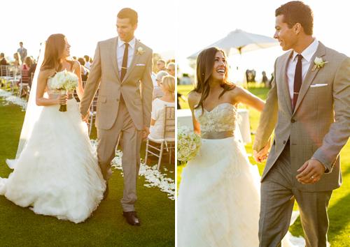 Boda elegante fotos los novios recién casados