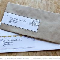Imprimible: etiquetas personalizables para los sobres de boda
