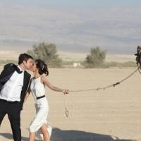 Sesión de fotos de boda en el desierto o no