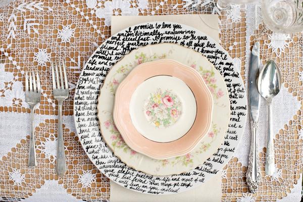 1 Tutorial plato pintado boda decoración