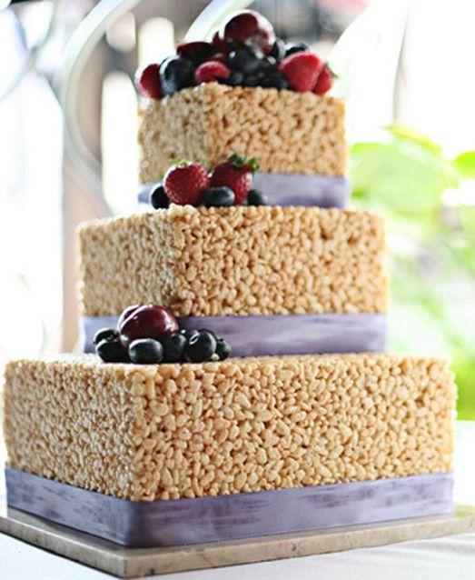 2 Alternativas al pastel de bodas pastel de cereales