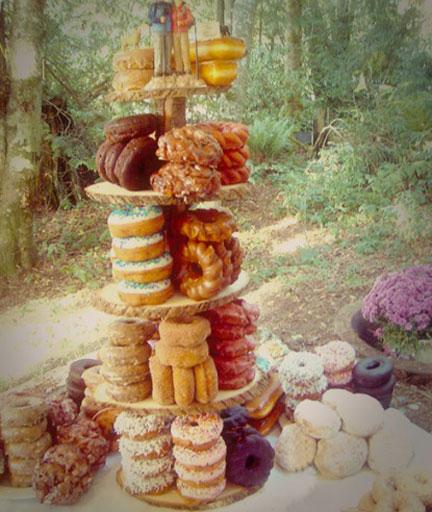 4 Alternativas al pastel de bodas torre de donuts