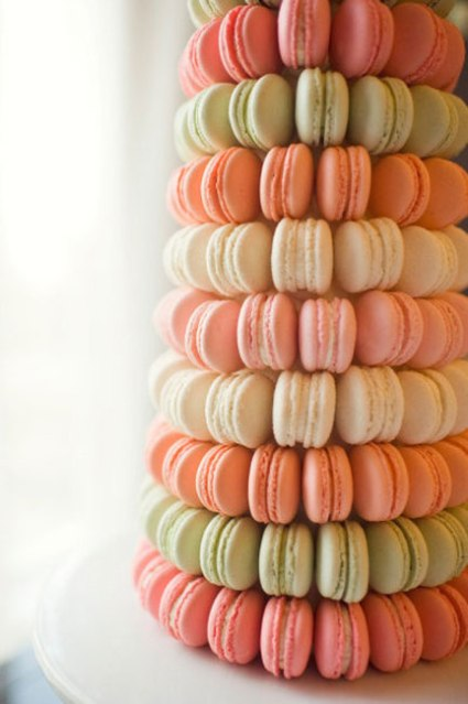 5 Alternativas al pastel de boda macarons