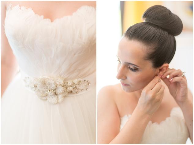 5 detalles vestido de la novia con plumas