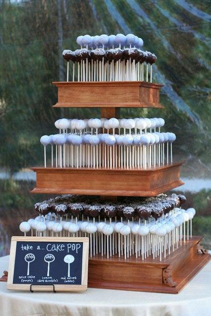 6 alternativas al pastel de bodas cake pops