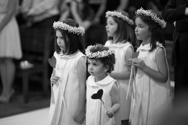 7 niños boda corona paniculata