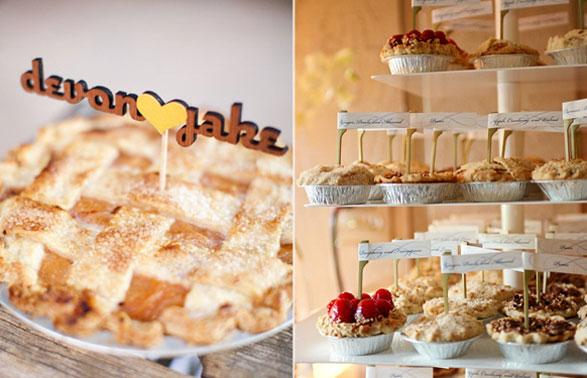 8 Alternativas pasteles de boda mini pasteles de hojaldre