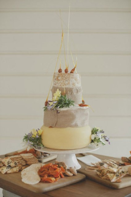 9 Alternativas pasteles de boda quesos