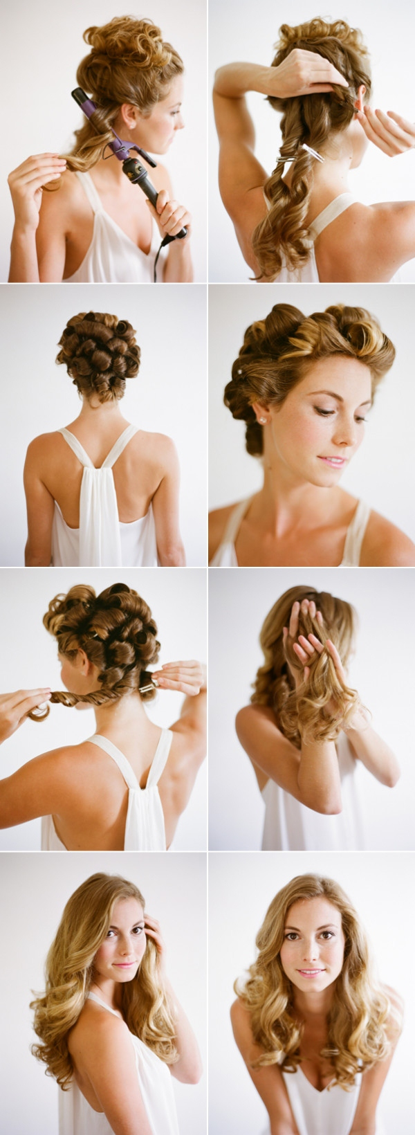 tutorial boda peinado pelo suelto novia invitada 2