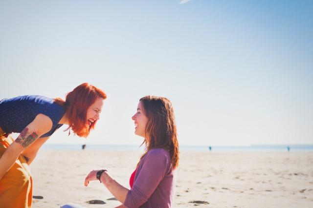 12 Sesion preboda en la playa chicas Paula G Furio