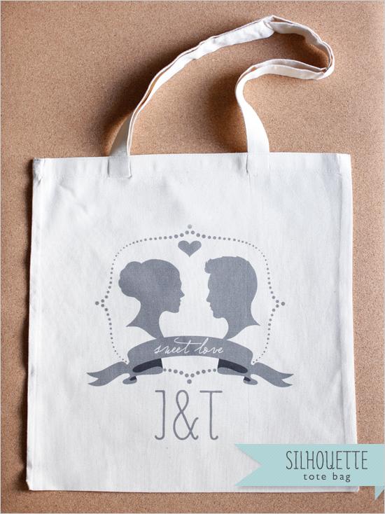 2 bolsas de tela para bodas