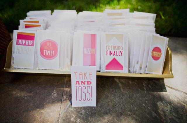 4 ideas para el envolver confeti bodas