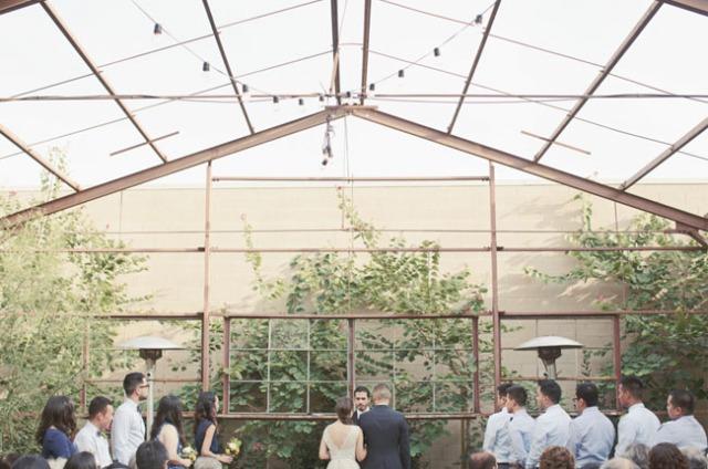 7 Boda moderna en un invernadero