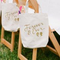 Bolsas de tela como regalo para tus invitados
