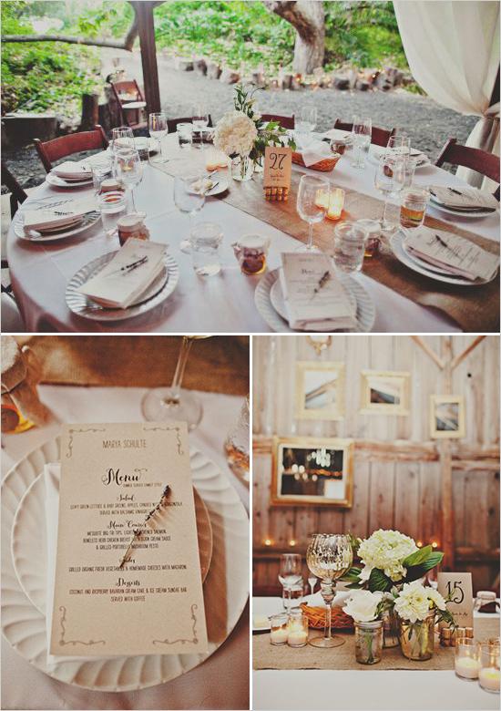 10 decoración mesas boda rústica
