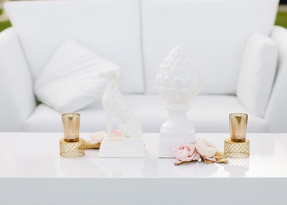 11 detalles decoración boda blanco dorado rosa