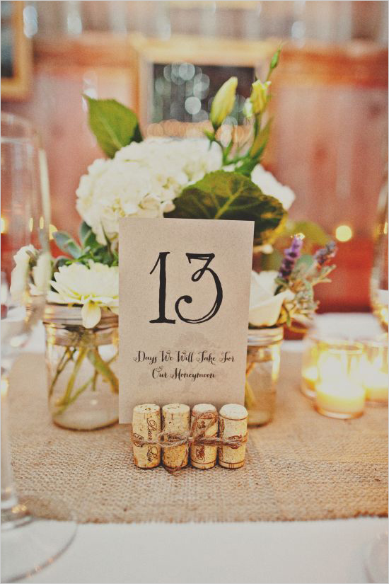 11 número mesa boda vintage