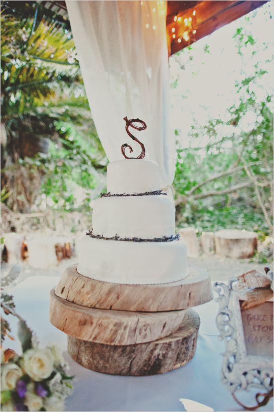 13 pastel de boda rústico