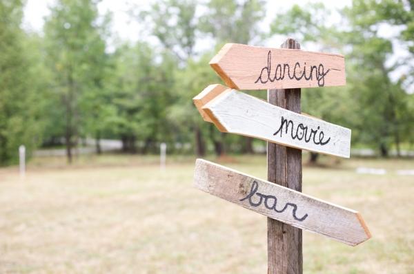 3 carteles de madera señalizadores boda